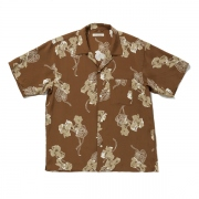 ORIGINAL PRINTED O/C SHIRTS (FLOWER- short sleeve)
