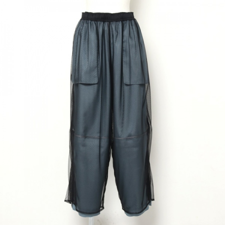 viscosewool gabardin Wfaced track pants