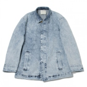 FLY FRONT DENIM COAT