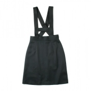 WOOL SUSPENDER MINI SKIRT