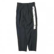 LINED CHAOS EMBROIDERY WIDE TAPERED TROUSERS