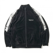 LINED CHAOS EMBROIDERY TRACK JACKET