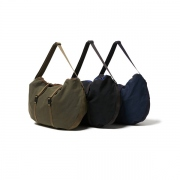 Cotton Canvas Round Shoulder Bag