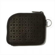 WM x PORTER MOSAIC PATTERN EMBOSSED LEATHER WALLET