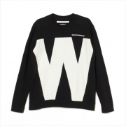 W CONTRASTED SWEATSHIRT