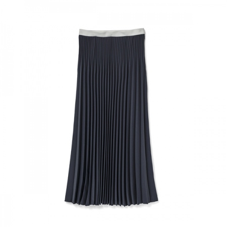 Satin Long Pleats Skirt