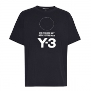 Y-3 Stacked Logo Tee / BLACK