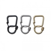 Brass Carabiner Key Ring