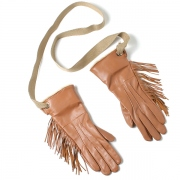 muller of yoshiokubo Leather fringe gloves