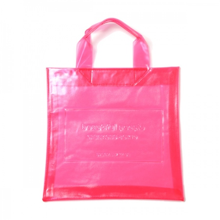 clear emboss name tote