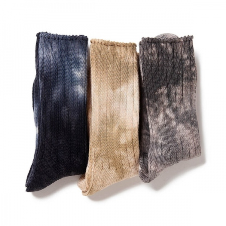TIE-DYED COTTON CREW SOCKS