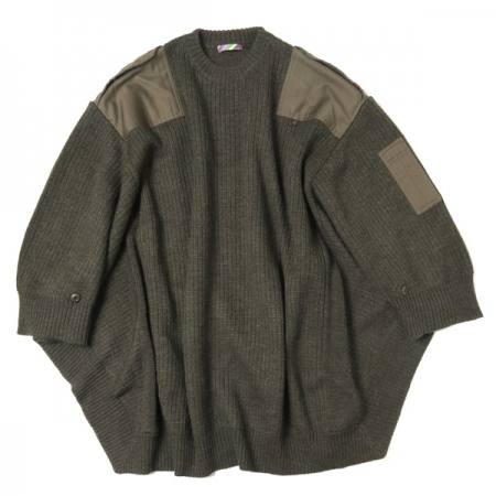 MILITARY KNIT PONCHO