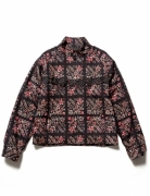 FLOWER PATTERN FRINGE JACKET