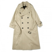 ultimate pima twill maxilong trench coat