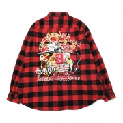 CHAOS EMBROIDERY CHECK SHIRT