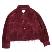 CUT OFF OVERSIZED CORDUROY JACKET
