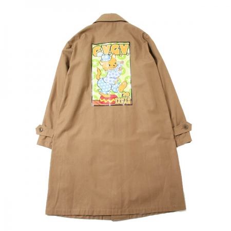 KOZIK × G.V.G.V. COTTON TWILL LACE UP COAT