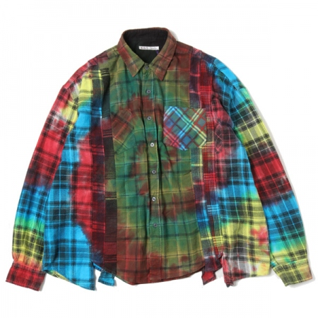 Flannel Shirt - 7 Cuts Wide Shirt / Tie Dye 4