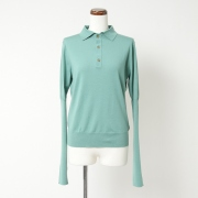 MERINO WOOL POLO COLLAR JUMPER