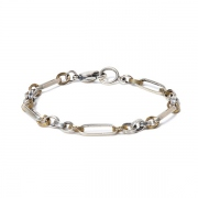 925 Silver Chain Bracelet With Brass