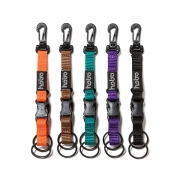 Nylon Tape Key Ring with Double Buckle
