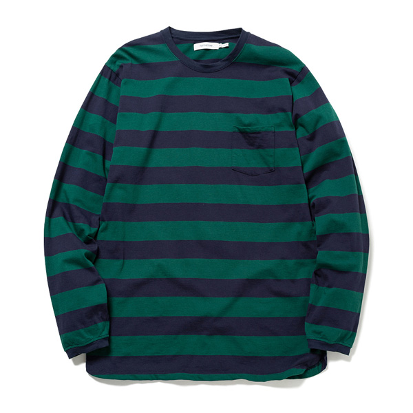 DWELLER L/S TEE COTTON JERSEY WIDE BORDER
