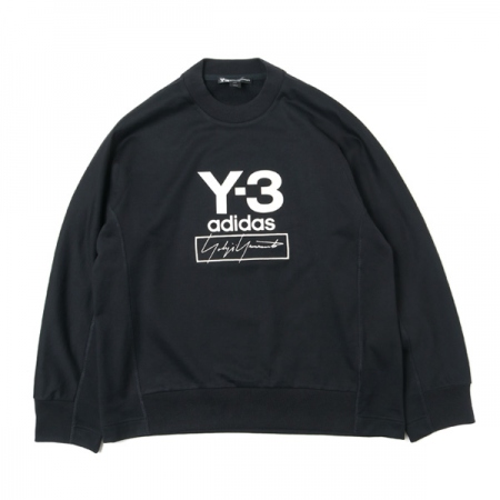 Y-3 STACKED LOGO CREW SWEATER
