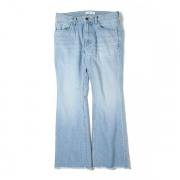 WASHED FLARE DENIM
