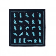 "PRINT BANDANA""HAND SIGN LANGUAGE"""