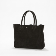 Cow Suede Leather Tote Bag L