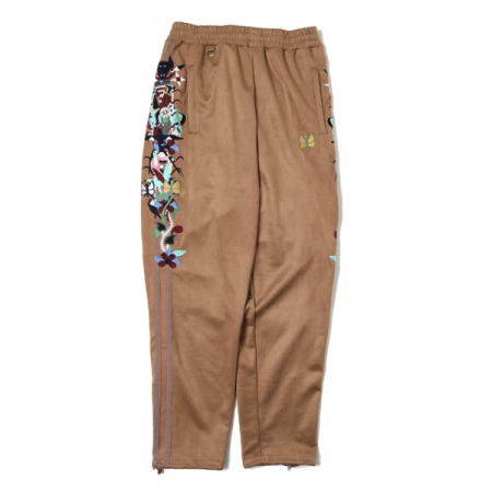 CHAOS EMBROIDERY SUEDE TRACK PANTS