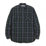 DWELLER B.D SHIRT COTTON TYPEWRITER PLAID