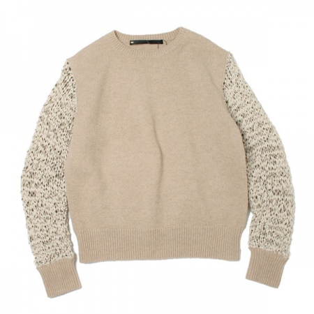 Suede net knit