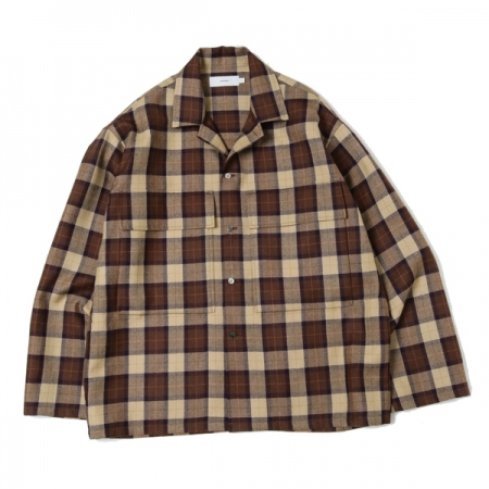 Wool Check Military Shirt