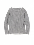 DWELLER BOAT NECK LS COTTON BORDER JERSEY