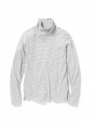 DWELLER TURTLE NECK LS COTTON BORDER JERSEY