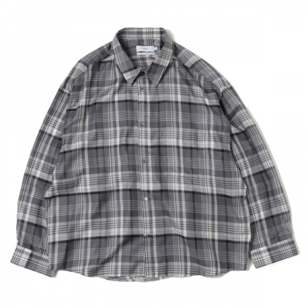 Tencel Check Regular Collar Big Shirt