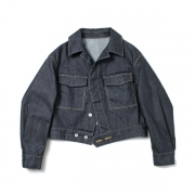 convex shape denim blouson
