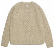 HAND KNITTED FISHERMAN CABLE KNIT