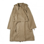 LIGHT MELTON LONG HOODED COAT