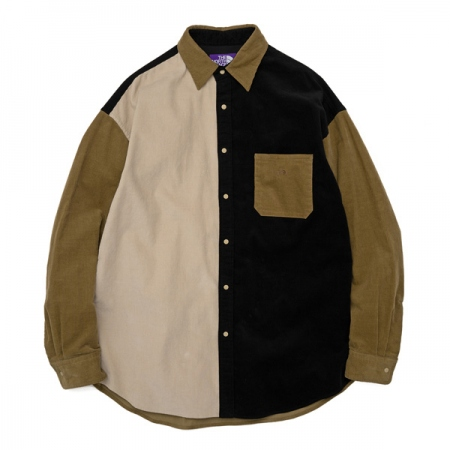 Organic Cotton Corduroy Panel Big Shirt