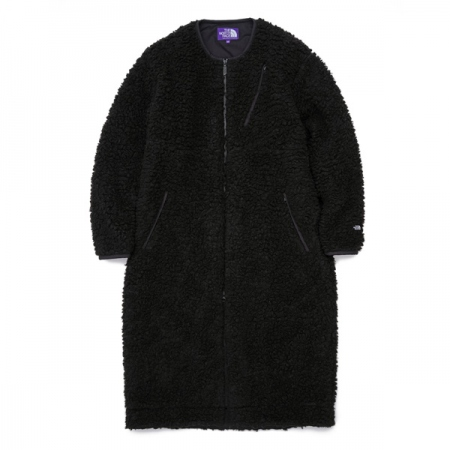 Wool Boa Fleece Field Long Coat