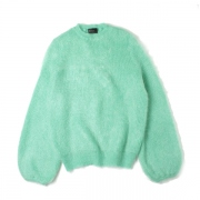 MOHAIR BALLOON SLEEVE CREW NECK JUMPER