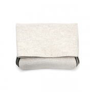 thick felt zipper clutch(ecru)