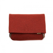 thick felt zipper clutch(brick)