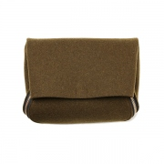 thick felt zipper clutch(khaki)