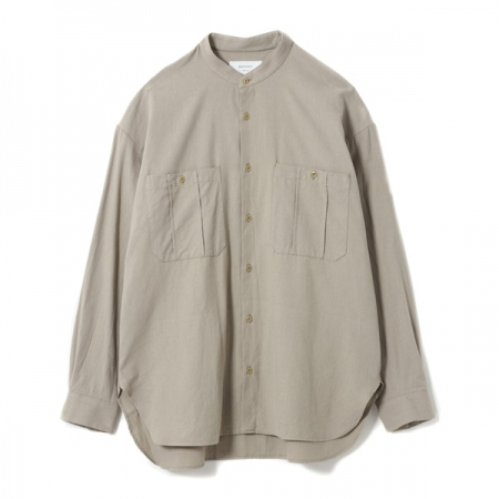 Band Collar Millitary Shirt