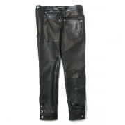 PUZZLE LEATHER PANTS