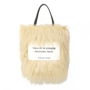 hairy fur leather name tote