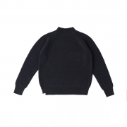 MOCK NECK POCKET SWEATER
